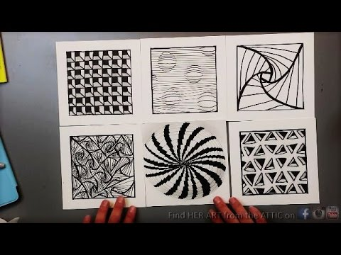 6 Optical Illusion Drawing Techniques && Patterns