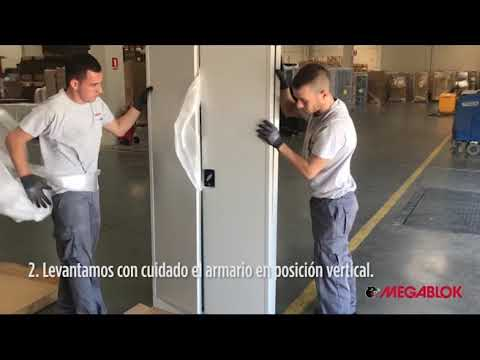 Montaje armario metálico plegable Megablok