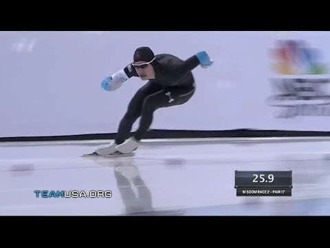 Mitchell Whitmore Takes The Men's 500m | 2014 U.S. Olympic Trials Speed Skating