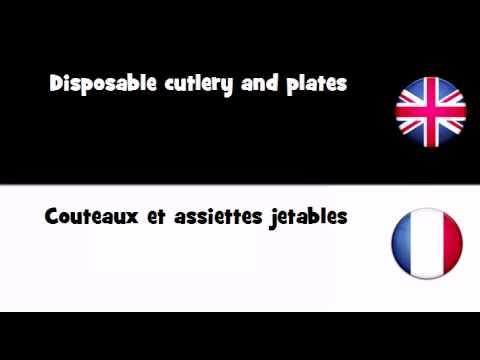 APPRENDRE L'ANGLAIS = Couteaux et assiettes jetables