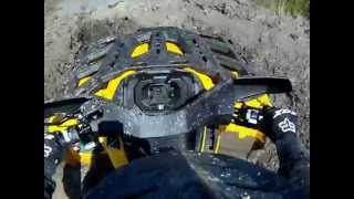 9. 2013 Can-am Outlander 800 xt - First mud hole.wmv