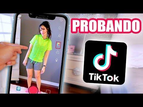 PROBANDO TIK TOK por PRIMERA VEZ! Reacción de mi Familia y Perro 😅 SandraCiresArt