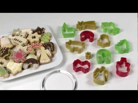 Видео Формочки для печенья из пластмассы Tescoma Традиционные формочки для печенья DELICIA, 13 шт Tescoma 630900
