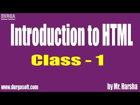 Learn HTML, CSS, JavaScript, Bootstrap Tutorial Online Training | Class - 1 | By Harsha Sir