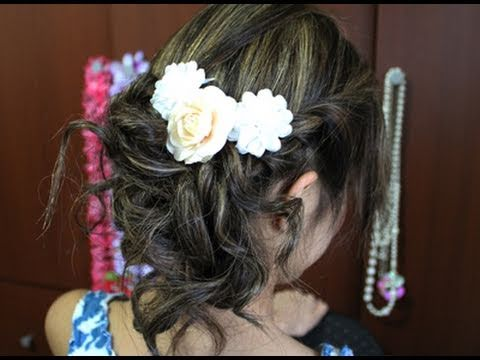 Romantic Prom Updo Hairstyle for Long Medium Hair Tutorial