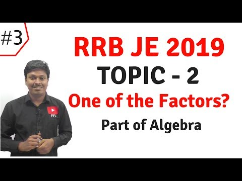 Rrb Je 2019 _ Topic 2(one Of The Factors) || 8-previous Year Questions || Easy Method And Shortcut