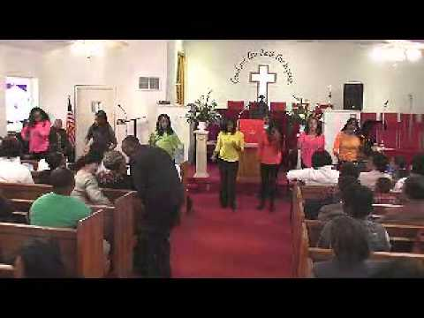 HPIM - Heavenly Praise in Motion First Baptist Church Voices of Praise having a Praise Fest Dr. C E Williams, Pastor.