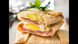No dirty dishes to wash up! Just wrap ham, egg and cheese in a tortilla or wrap, enclose in foil and bake! Crispy on the bottom, soft on top. Print recipe:  http://www.recipetineats.com/no-washing-up-ham-egg-cheese-pockets/