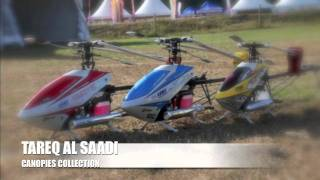 collection of Tareq Al saadi's Heli canopies.