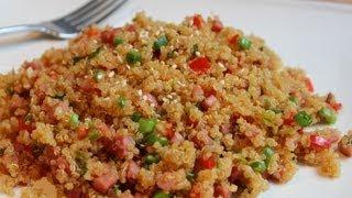 Pork-Fried Quinoa - Low-Fat Pork-Fried Rice Recipe With Quinoa