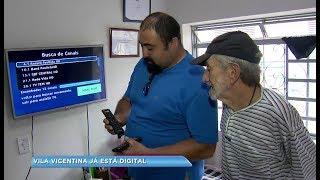 Técnicos instalam conversores digitais em asilo de Bauru