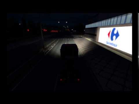 Bohses Madchen Iveco-HighWay inkl. Leuchtkasten & Trailer v1.0