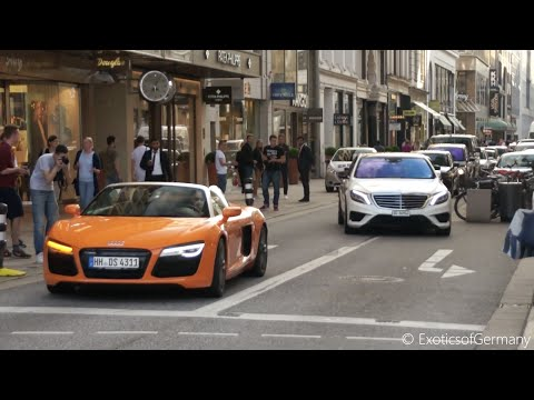 Hamburg: Supercars in Hamburg - Summer 2015 - Aventador, C63 BS, AMG GT, R8