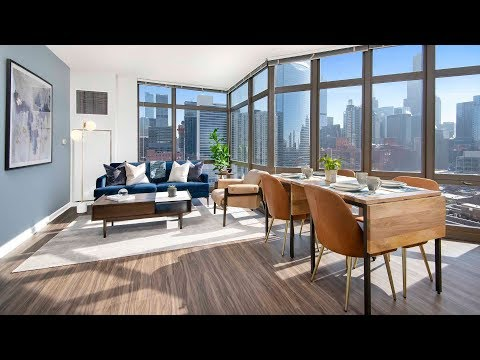 A 2-bedroom, 2-bath model at Echelon Chicago, steps from the West Loop