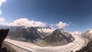 Aletsch glacier (time-lapse) 5 August 2015 by @eddy_weather