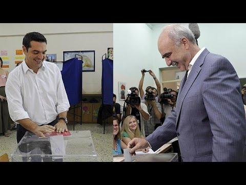 Το το εκλογικό τους δικαίωμα άσκησαν ο Αλέξης Τσίπρας και ο Ευάγγελος Μεϊμαράκης