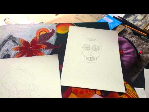 Studio Tour: Dia De Los Muertos + Coloring Pages