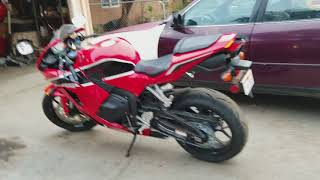 7. 2017 cbr600rr stock exhaust after toce exhaust