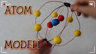 strafor köpük ve bakır teller kullanarak basit atom modeli yapımı