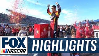 Kyle Larson Pulls Away on Final Restart to Win | 2017 MICHIGAN | FOX NASCAR
