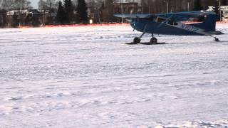 Cessna 185 Skywagon On Skis