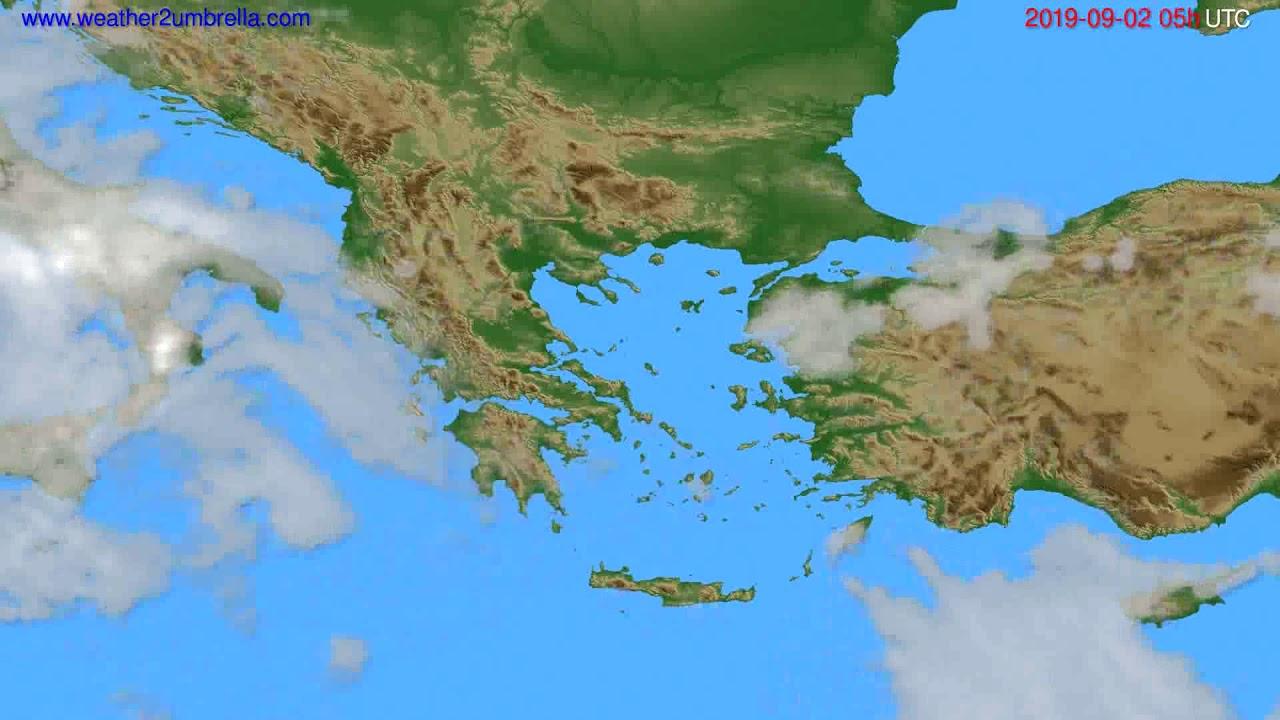 Cloud forecast Greece // modelrun: 00h UTC 2019-08-31