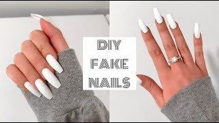 Video HOW TO DO FAKE NAILS AT HOME FOR BEGINNERS!   Acrylic Nails Under $30! MP3, 3GP, MP4, WEBM, AVI, FLV Januari 2018
