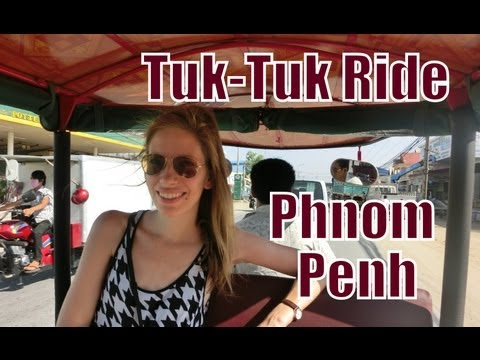 Tuk-Tuk Rickshaw ride around Phnom Penh, Cambodia