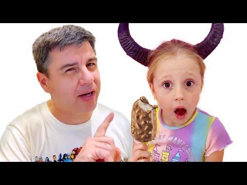 Nastya engaña a su padre historia moral para los niños