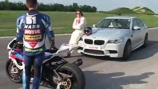 9. BMW M5 vs BMW S1000RR - Track Test by TopSpeed Magazine