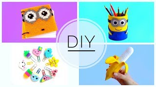 4 DIY SCHOOL SUPPLIES | Back to school
