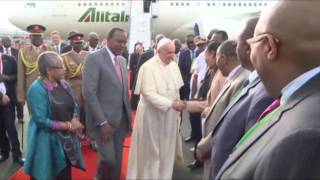 Full Video: Pope Francis arrives in Kenya