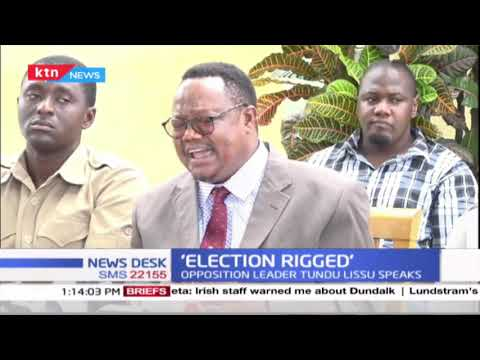'Elections Rigged': Opposition leader Tundu Lissu cries foul as he points out election malpractices