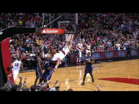 Huge Block by Batum - Blazers vs. Rockets