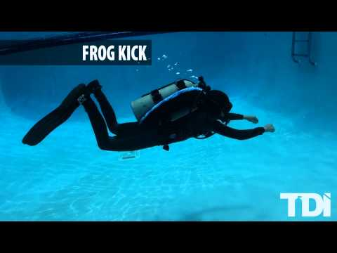 SDI/TDI Scuba Diving Finning Techniques - Frog Kick