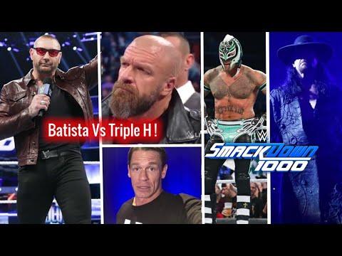 Batista Vs Triple H ! Mysterio Wins ! McMahon Returns ! WWE Smackdown 1000 Highlights 16 October