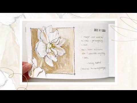 Sketchbook Flip Through 2020 | A Stillman & Birn Beta sketchbook I started in 2018!