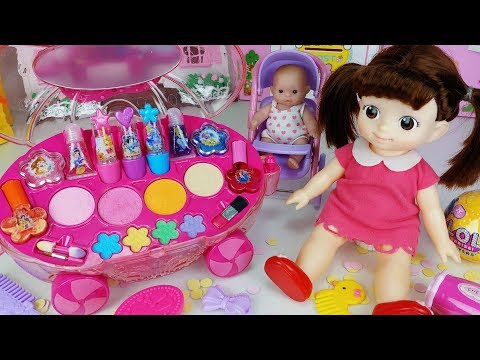 Baby Doll Make up and beauty car toys surprise egg play - 토이몽