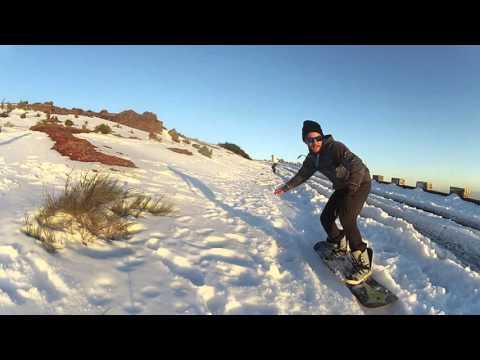 Snowboard na ilha da Madeira Pico do Arieiro Fevereiro de 2016 GoPro 2 e GoPro silver 4