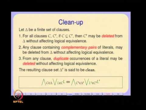 Mod-01 Lec-07 Propositional Unsatisfiability