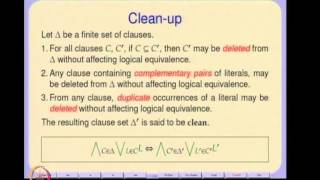 Mod-01 Lec-07 Propositional Unsatisfiability