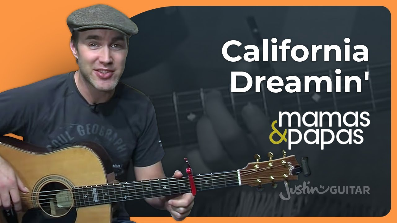 California Dreamin – The Mamas & The Papas (Easy Songs Beginner Guitar Lesson BS-704) How to play