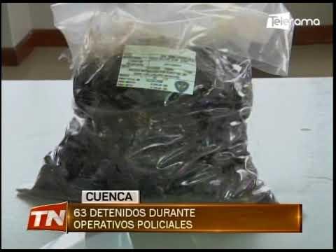 63 detenidos durante operativos policiales