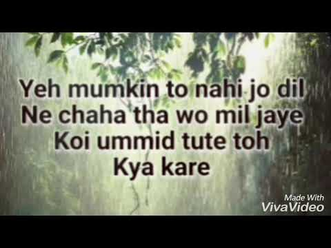 Video Yeh Mumkin to nahi (with lyrics) download in MP3, 3GP, MP4, WEBM, AVI, FLV January 2017