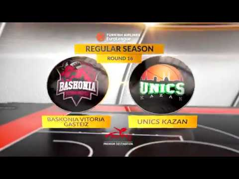EuroLeague Highlights RS Round 16: Baskonia Vitoria Gasteiz 102-70 Unics Kazan