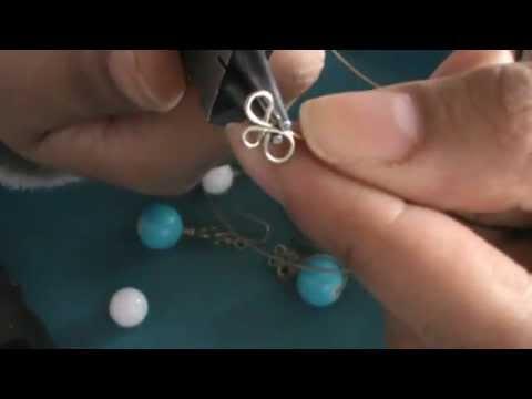 TutoLiz:Aretes engarzados con alambre.