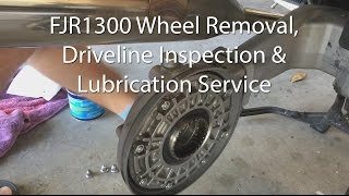 Video Yamaha FJR1300 Front And Rear Wheel Brake Driveshaft Removal Inspection Lube Service MP3, 3GP, MP4, WEBM, AVI, FLV Juni 2018
