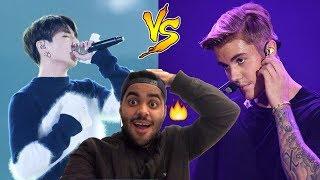 Video JUNGKOOK VS JUSTIN BIEBER [VOCAL BATTLE] REACTION!🔥 MP3, 3GP, MP4, WEBM, AVI, FLV Mei 2018
