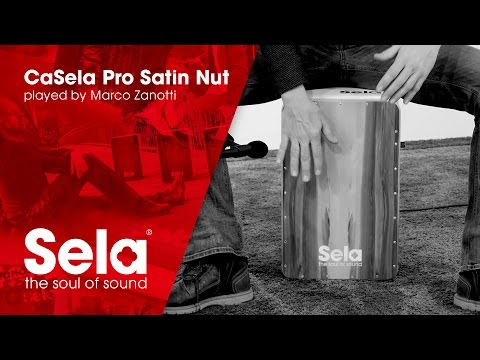 Cajon performance by Marco Zanotti (Sela CaSela Pro Satin Nut with Snare On/Off Mechanism)