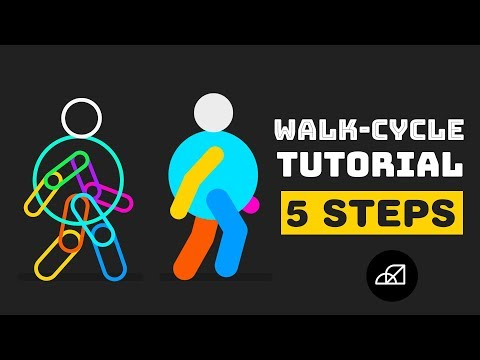 Walk Cycle Tutorial In After Effects | Only In 5 Steps - No Third Party Plugin